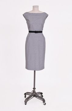 margot in gray; by tess dress