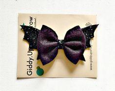 Halloween Hair Bow Bat Fall Headband Halloween by giddyupandgrow