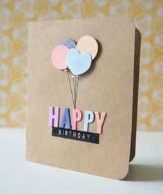 My first no stamping card :) Dies from Paper Smooches and My Favourite Things. Creative Birthday Cards, Simple Birthday Cards, Bday Cards, Handmade Birthday Cards, Happy Birthday Cards, Creative Cards, Birthday Diy, Birthday Gifts, Tarjetas Diy