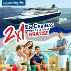 Vive la experiencia @Pullmantur  Disfruta desde este próximo 21 de Marzo de la promoción 2x1 en cabinas para el embarque de #Venezuela en salidas de Abril y Mayo.  Por la compra de una cabina, la segunda tendrá importe 0 USD. Solo pagando tasas y propinas.   Reserva ya en: www.lusitanatours.com