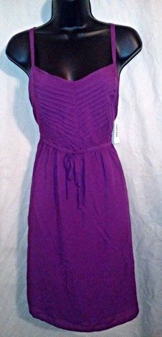 Old Navy NWT purple spaghetti strap knee-length solid casual sheath dress M #OldNavy #Sheath #Casual