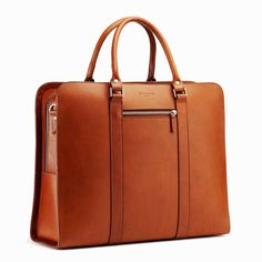 A day-to-day bag suitable between the home, office, and the odd overnight excursion. Function and finesse, all in one. Briefcase For Men, Leather Briefcase, College Bags, Day Bag, Leather Men, Leather Jackets, Pink Leather, Leather Accessories, Shoulder Handbags