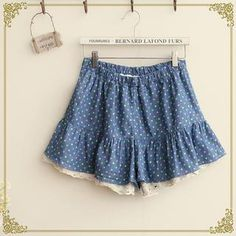 Buy 'Fairyland � Dotted Frilled Hem Skort' with Free International Shipping at YesStyle.com. Browse and shop for thousands of Asian fashion items from China and more!