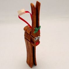 Clothespin Reindeer!  I made these as a kid but the kids haven't brought one home from school yet.  Need to make them together!