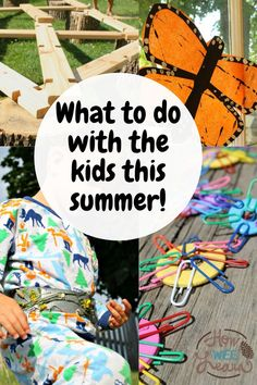 """Looking for what to do with the kids this summer? There is no need to go any further than your own backyard! These summer crafts and activities for kids work great for a """"camp at home"""" experience or just for a rainy day. Outdoor Activities For Toddlers, Outdoor Fun For Kids, Quiet Time Activities, Creative Activities For Kids, Kids Learning Activities, Summer Activities For Kids, Infant Activities, Outdoor Play, Summer Crafts For Kids"""