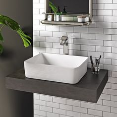 6 Unique Tips: Counter Tops Makeover Painting Countertops dark counter tops vanities.Counter Tops With White Cabinets Paint Colors. Countertop Basin, Concrete Countertops, Kitchen Countertops, Basin Sink, Bowl Sink, Basin Mixer, Interior Paint Colors, Gray Interior, Room Interior