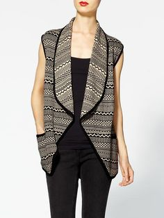 Piperlime | Aztec Print Sweater Vest