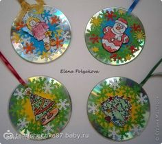 Поделки из CD-дисков к Рождеству или новому году…
