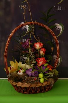 Coș cu Orhidee Vanda cu livrare în #Moldova Wicker Baskets, Moldova, Home Decor, Decoration Home, Room Decor, Woven Baskets, Interior Decorating