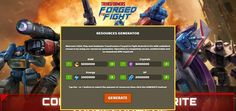 - Unlimited Crystals - Unlimited Gold - Unlimited Energy - Unlimited XP  Transformers Forged to Fight Hack Crystals Gold:  http://resources-generator.online/transformers-forged-to-fight.html