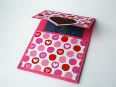 Gift Card Holder Valentine Hearts Red Pink White by SZBCreations, $3.50