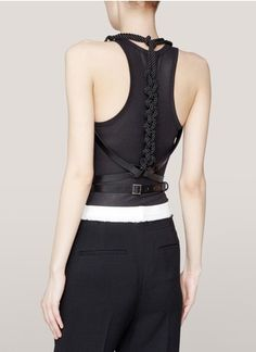 Prabal Gurung - Rope-and-leather harness belt | Black Belts | Womenswear | Lane Crawford - Shop Designer Brands Online