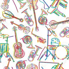 15419735-Seamless-background-with-stylized-musical-instruments-Stock-Vector.jpg (1300×1300)