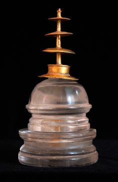 GOLD & CRYSTAL RELIQUARY IN THE FORM OF A STUPA 1st - 2nd Century AD