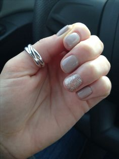 Shellac nails.. I actually really like this nude/gray color...hrmm...