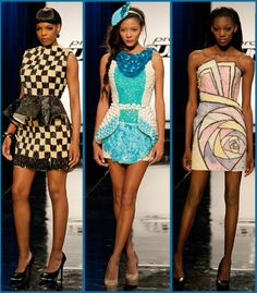Top 3- Absolutley LOVE Ven's winning dress (Far right) for the candy challenge! I would totally wear it.