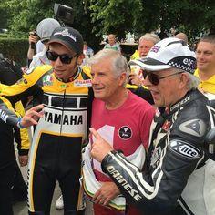Valentino Rossi con Giacomo Agostini