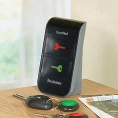 Wireless Key Finder at Brookstone---spent the last 24 hours looking for my keys, might need to invest in this!