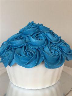 1st birthday smash cake. Giant cupcake  Custom Creations Sudbury  customcreationsudbury@gmail.com  Find me on Facebook