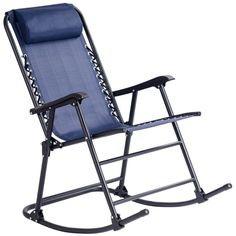 Costway Folding Zero Gravity Rocking Chair Rocker Porch Outdoor Patio Headrest Blue Image 1 of 10 Porch Chairs, Outdoor Rocking Chairs, Outdoor Lounge, Hd Led, Soft Pillows, Rockers, Sun Lounger, Diys, Bench