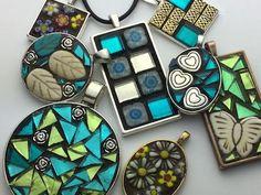 mosaic jewellery pendants