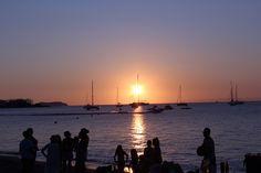 Es poueto, playa es pouet puesta de sol en Ibiza