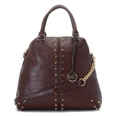 Michael Kors Outlet Bowling Stud Medium Coffee Satchels -save up 77% off michael kors store online !!