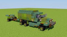 Cargo Truck with Howitzer Minecraft Map Minecraft Car, Minecraft Building Blueprints, Minecraft Images, Minecraft Banners, Minecraft Construction, Amazing Minecraft, Minecraft Pixel Art, Minecraft Creations, Minecraft Designs