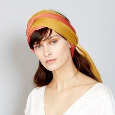 Foulard+tye+and+dye+bicolore