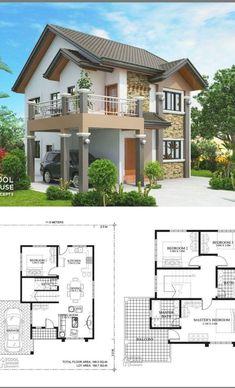 Open Floor House Plans, Porch House Plans, Sims House Plans, Basement House Plans, Bedroom House Plans, Dream House Plans, 4 Bedroom House Designs, Bedroom Boys, Dream Houses