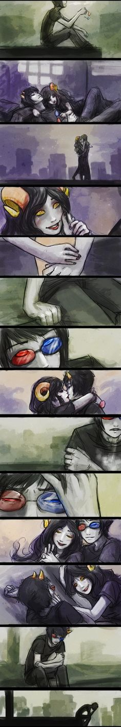 Everyone thinks Sollux doesn't remember killing Aradia.I DON'T NEED THESE FEELS!!