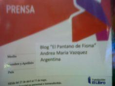 El Pantano de Fiona: Recorrido de La Feria del Libro 2015-Primer dia.