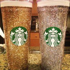 DIY Glitter Starbucks Cold Cup- Easy Gifts! www.progressionbydesign.com