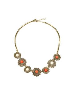 Multi Floral Cluster Necklace