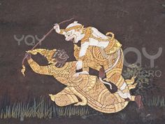 YAY Images - Vintage traditional Thai style art painting on temple by wetchawut Blue Whale Drawing, Thai Art, Thai Style, Hanuman, Vintage Images, Traditional Art, Royalty Free Images, Sculpture Art