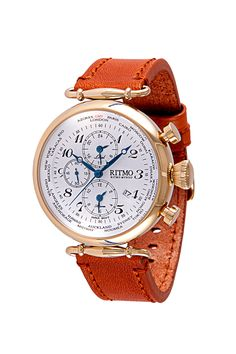 World Time 46mm Stainless Steel and Yellow Gold Multi Function Chronograph