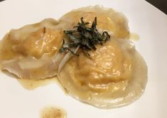 Homemade Butternut Squash Ravioli made with won ton wrappers instead of pasta. With Sage Brown Butter Sauce for the best fall dish ever!