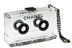 Chanel cassette-tape clutch...playing the right fashion notes.