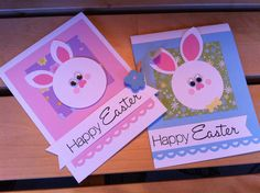 "Easter bunnies. Hand made cards by ""Krysp"" Paper Creations."