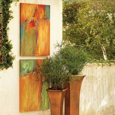 Tangerine Burst Wall Art