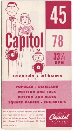 Vintage Capital Records Brochure  lots of awesome by thecedarchest