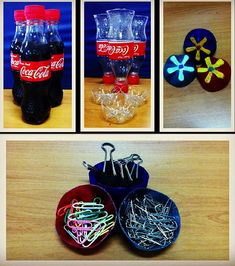 cute earth day inspired craft: transform old bottles into mini organizers #GetCrafty