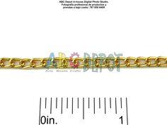 #Cadena de #Aluminio color #Oro con eslabones torcidos de 0.x3x4.6mm. Código: ACG8346