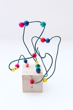Wire sculpture is an easy art project for kids that introduces the concepts of line and space.