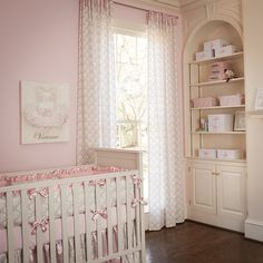 Pink and Taupe Damask Drapes | Curtains in Light Pink and Brown Damask