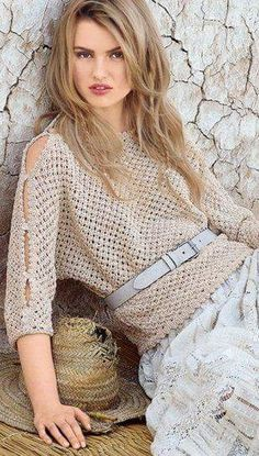 Knitting patterns for beginners sweaters crochet jacket ideas Crochet Jacket, Crochet Blouse, Crochet Tops, Jacket Pattern, Top Pattern, Free Pattern, Collar Pattern, Summer Knitting, Knitting For Beginners
