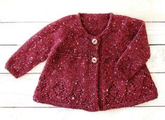 Baby Clothing Hand Knitted in Maine por SilverMapleKnits 18 Month Old, Cozy Sweaters, Hand Knitting, Tweed, New Baby Products, Girl Outfits, Burgundy, Etsy, Blazer