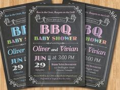 BABY Q shower INVITATIONS Bbq Baby Shower | Baby shower ...