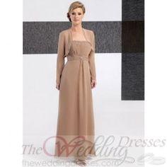 Ball Gown Chiffon Sleeveless Bateau Chapel Train Wedding Dress TWD2222