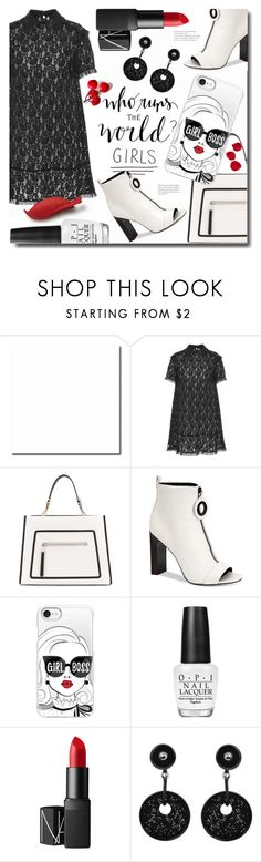 """Girl Power: Power Look"" by ames-ym ❤ liked on Polyvore featuring RED Valentino, Fendi, Calvin Klein, Casetify, OPI, NARS Cosmetics, Giorgio Armani, girlpower and powerlook"